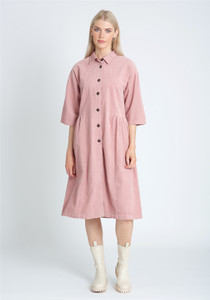 Super Oversized Cord Dress With Button Down Fastening