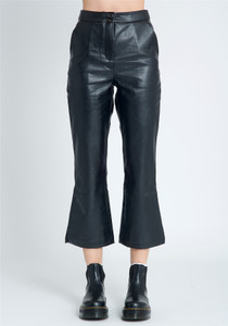 PU Trouser With Kick Flare Fit