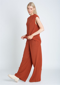 Sleeveless Knitted Tank In Longline Loose Fit