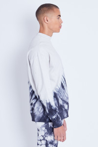 Oversized Sweatshirt With High Neck In Marble Wash