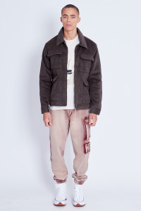 Brushed Wool Zip Through Jacket