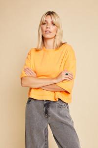Orange Cropped Length Tarja Top