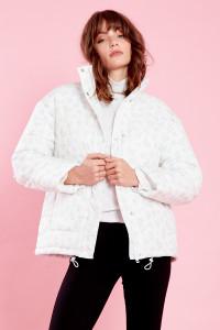 Frankie Floral Puffer Jacket - Cream