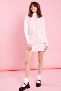 Jackie A Line Skirt - Pink
