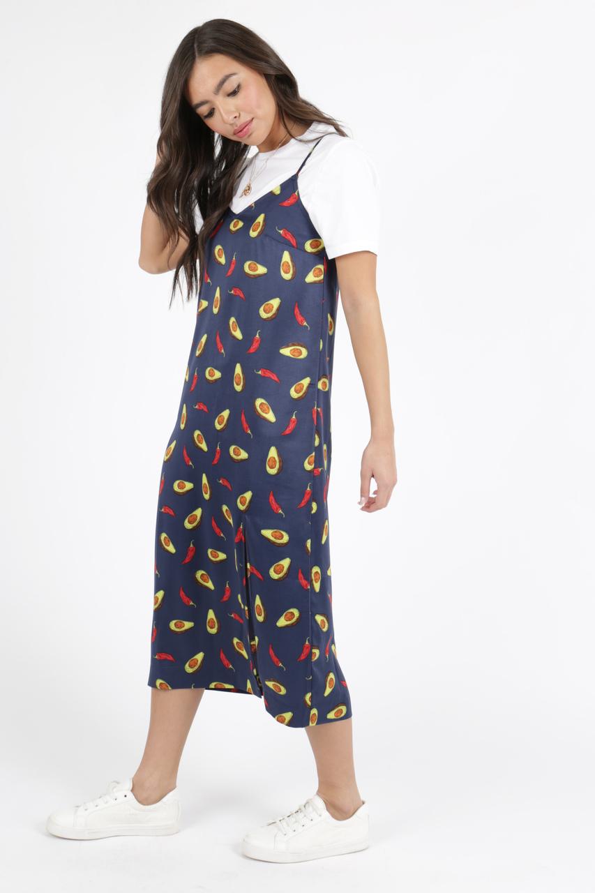 60186d59cb Avacoda Print Satin Slip Dress | Neon Rose Wholesale New Season SS'19