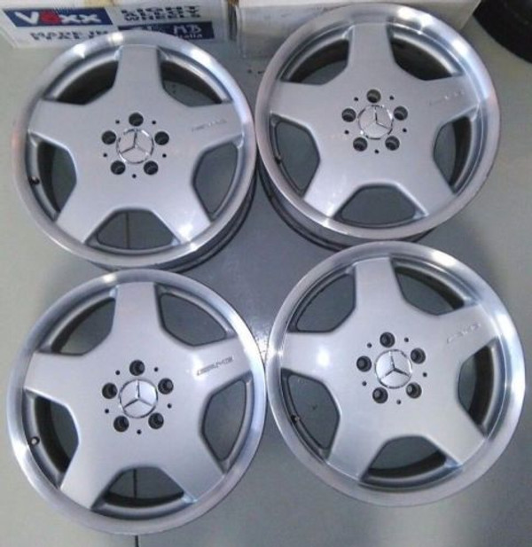 Mercedes Benz Rims >> Mercedes Benz S55 Cl55 E55 Amg 18 Monoblock Oem Staggered Rims Refinished Wheels
