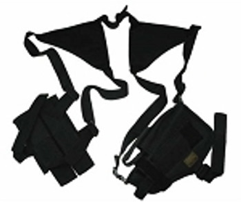 Nylon Shoulder Holster with Dual Mag Pouch