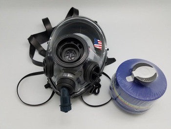 MESTEL 400/3 BB Gas Mask / Respirator Size M/L With Drinking Attachment and Speech Diaphram