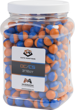 MISSION LEVEL 2 OC CS PEPPER BALLS JAR OF 375