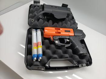 Firestorm JPX 4 Shot Compact 2 Pepper Gun Orange with Laser and Best Holster