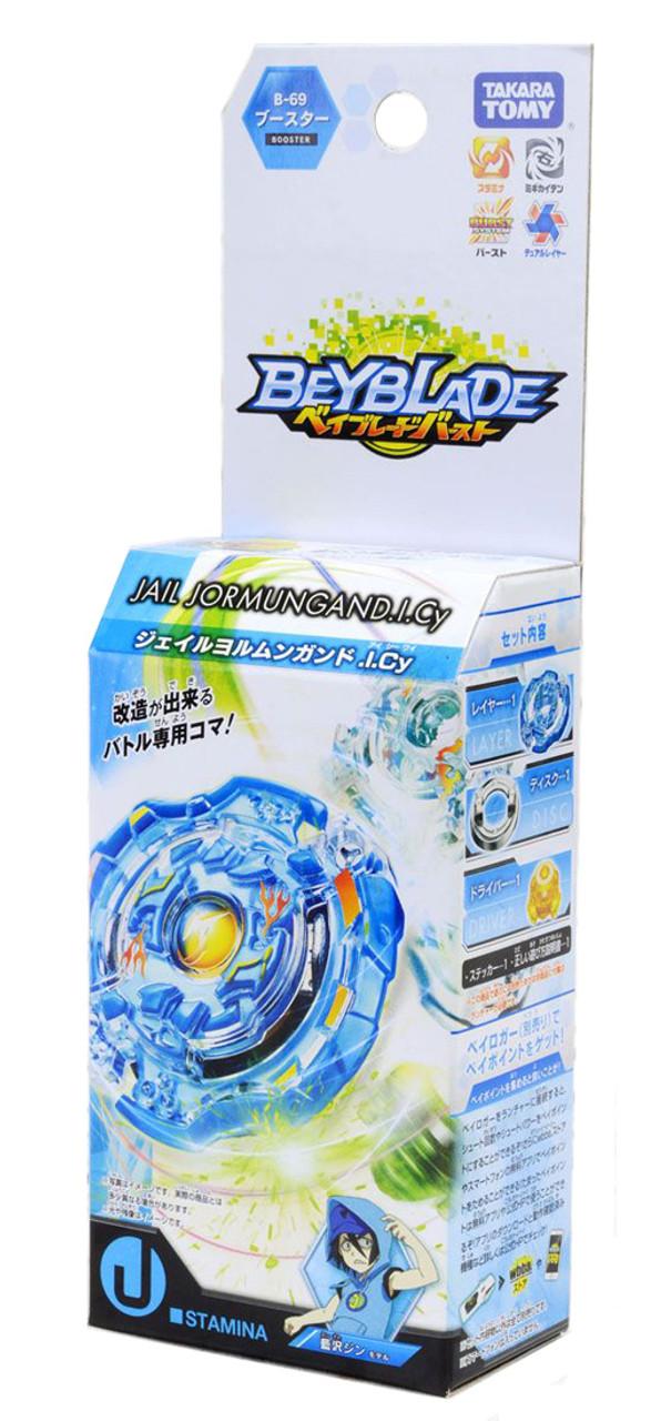 New Beyblade burst B-69 booster Jail Jormungand .I.Cy
