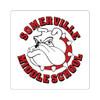 SMS Square Stickers Bulldog