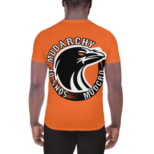 Orange All-Over Print Men's Athletic T-shirt