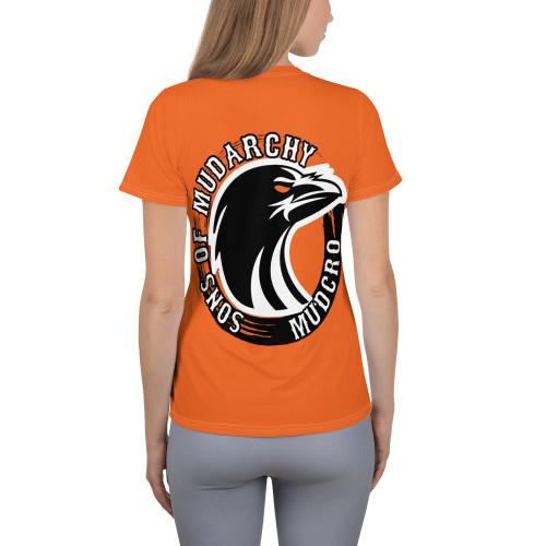 Orange All-Over Print Women's Athletic T-shirt