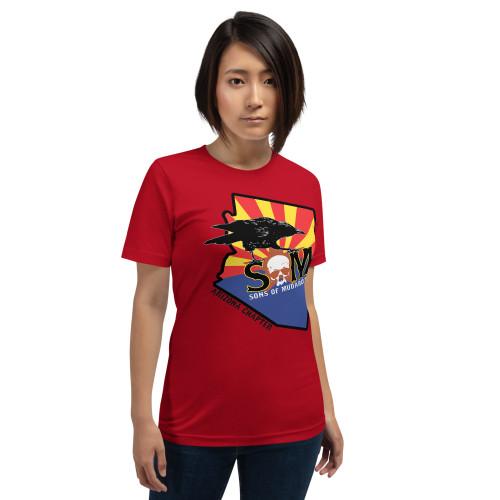 Arizona Chapter Short-Sleeve Unisex T-Shirt Yellow and Red