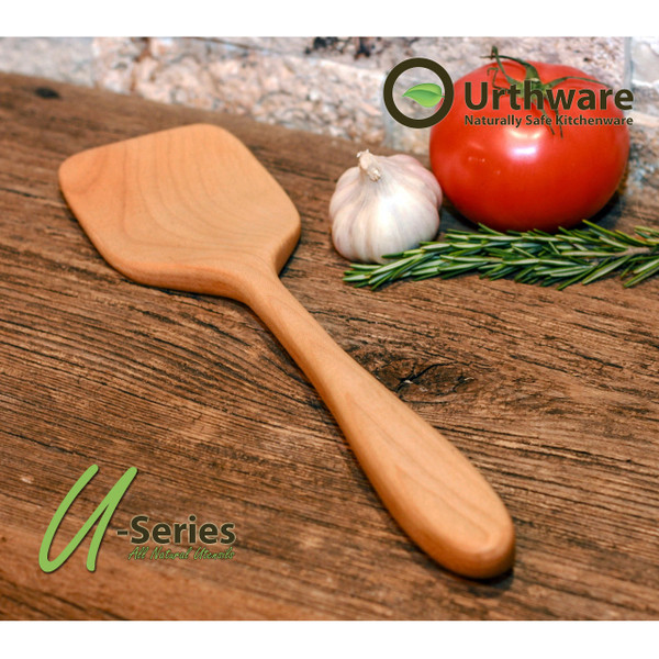 Urthware  Hard maple hand crafted wooden spatulas made in Canada with Organic safe finishes