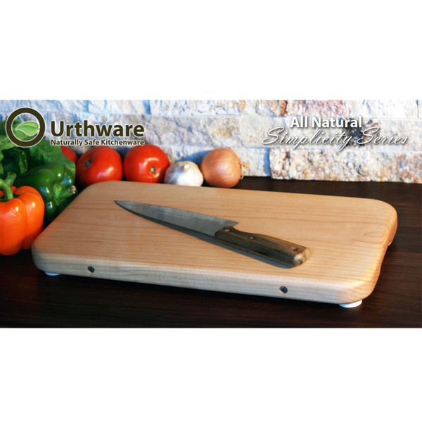 Urthware All Natural Simplicty series Large Cutting board no glue. Solid Canadian hard maple. by urthware