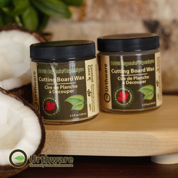 Urthware  organic and all natural MCT coconut oil and wax cutting board finish.