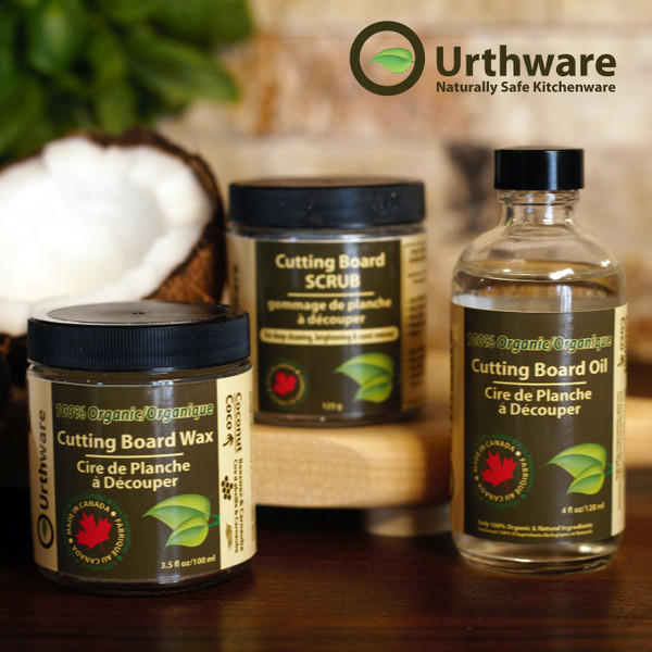 Urthware Organic and natural Cutting board Care pack