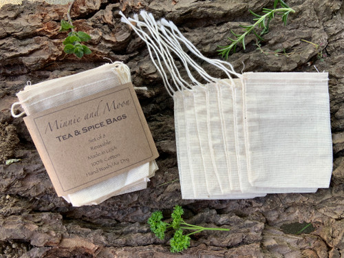 reusable tea and spice bags, made in use