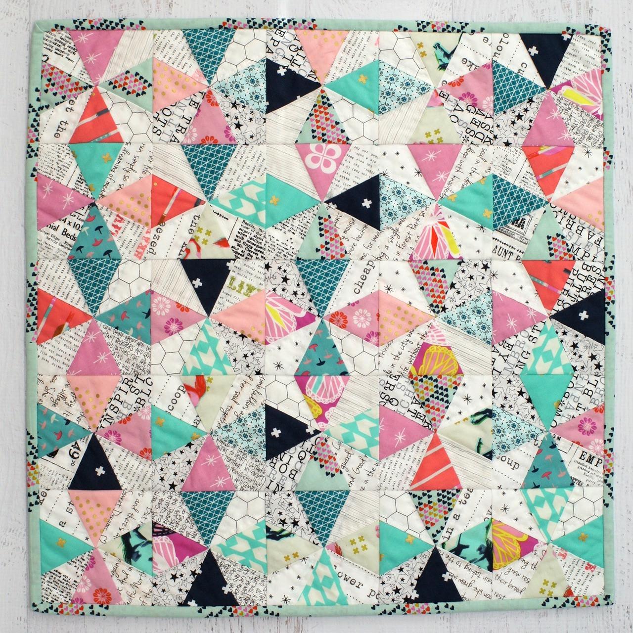 Quilten Paper Piecing.Kaleidescope Foundation Paper Pieced Cushion Or Mini Quilt Pdf Pattern