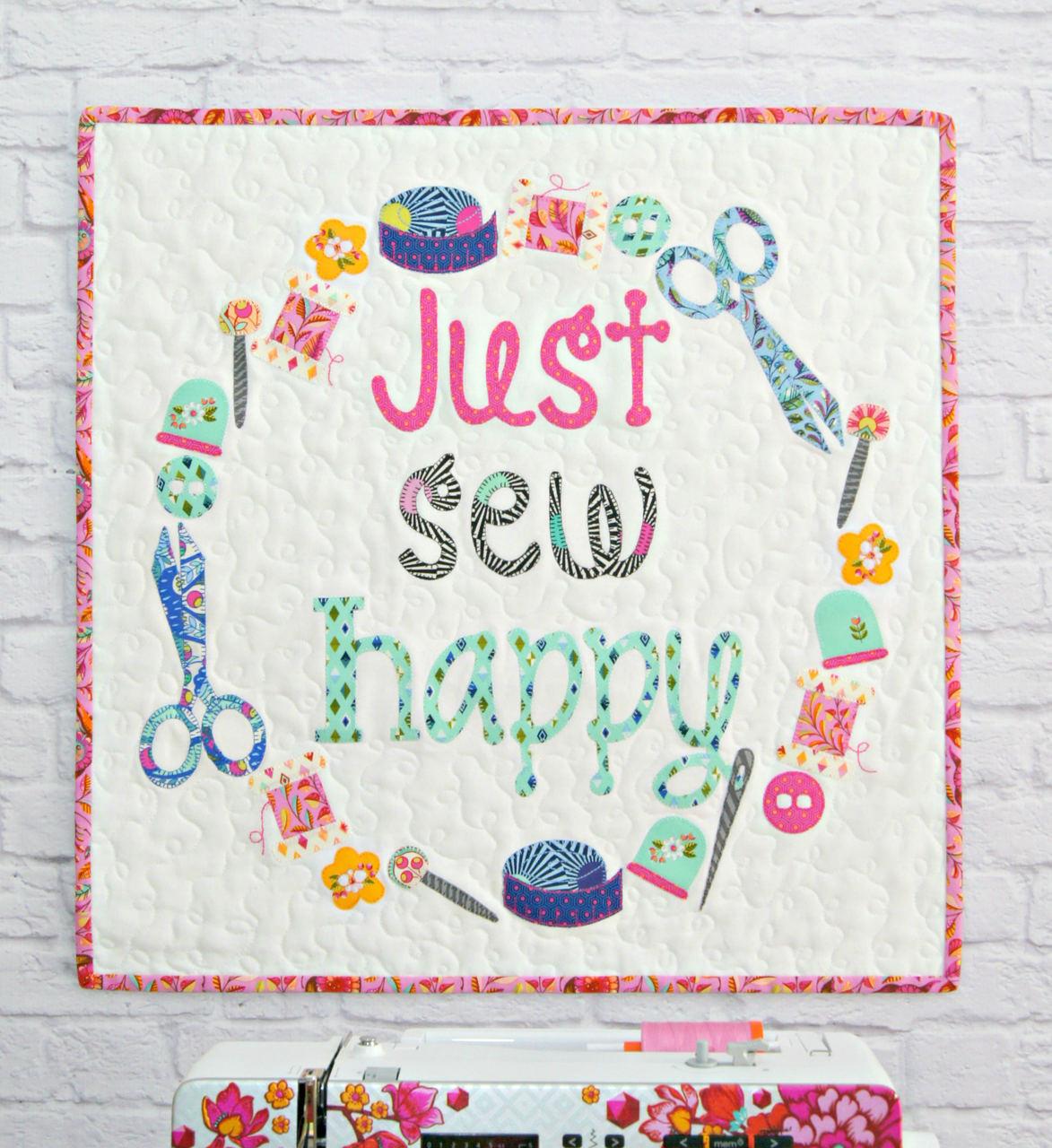 Just Sew Happy Mini Quilt PDF Pattern