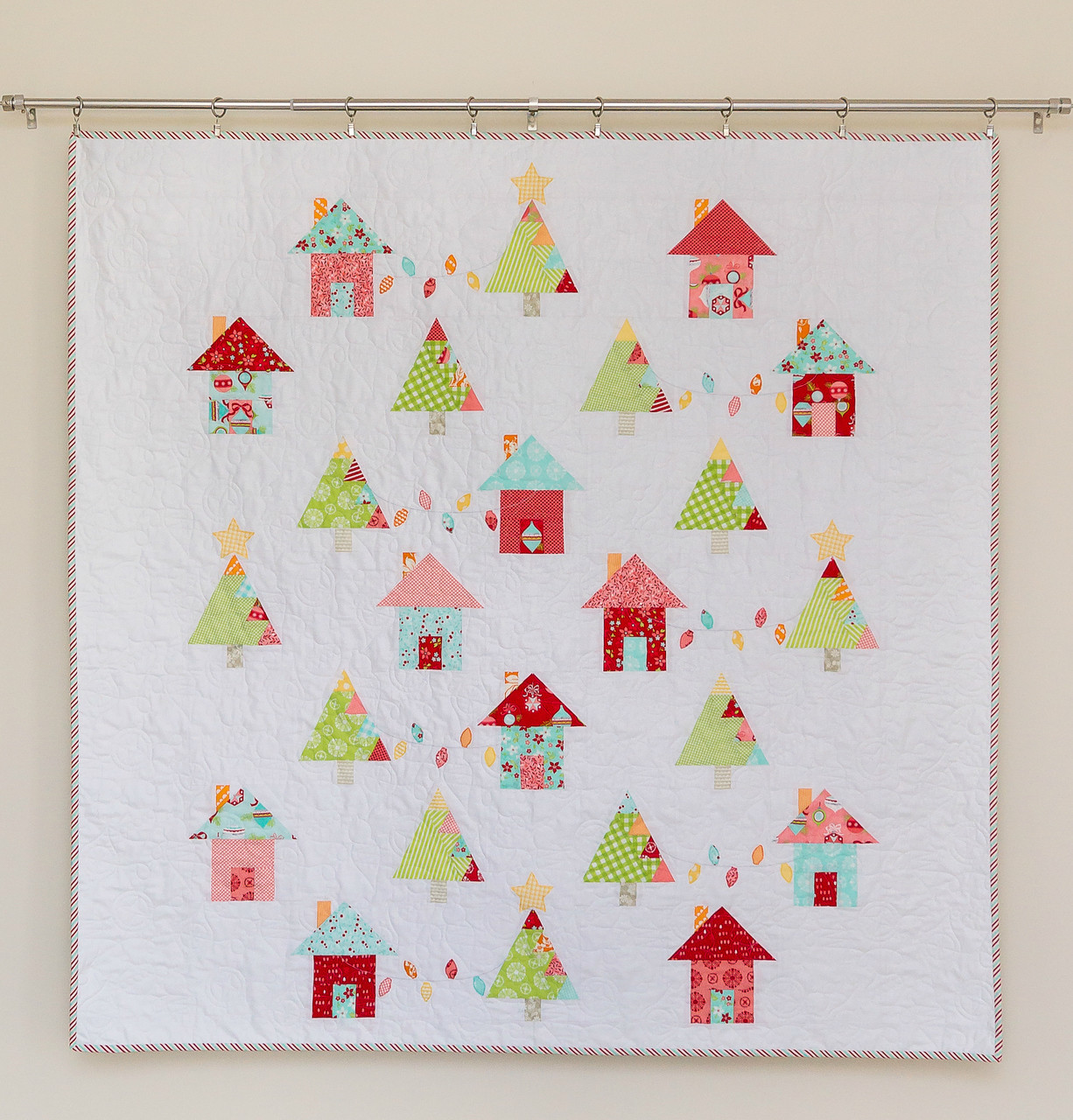 Christmas Quilt.Tinseltown Quilt Pdf Pattern