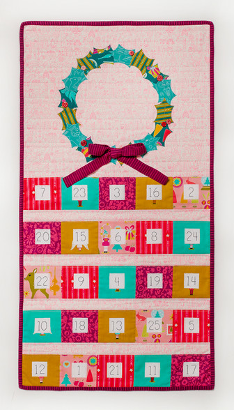 christmas cheer advent calendar pdf pattern tied with a. Black Bedroom Furniture Sets. Home Design Ideas