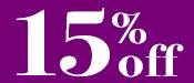 Crystal Sale 15% Off