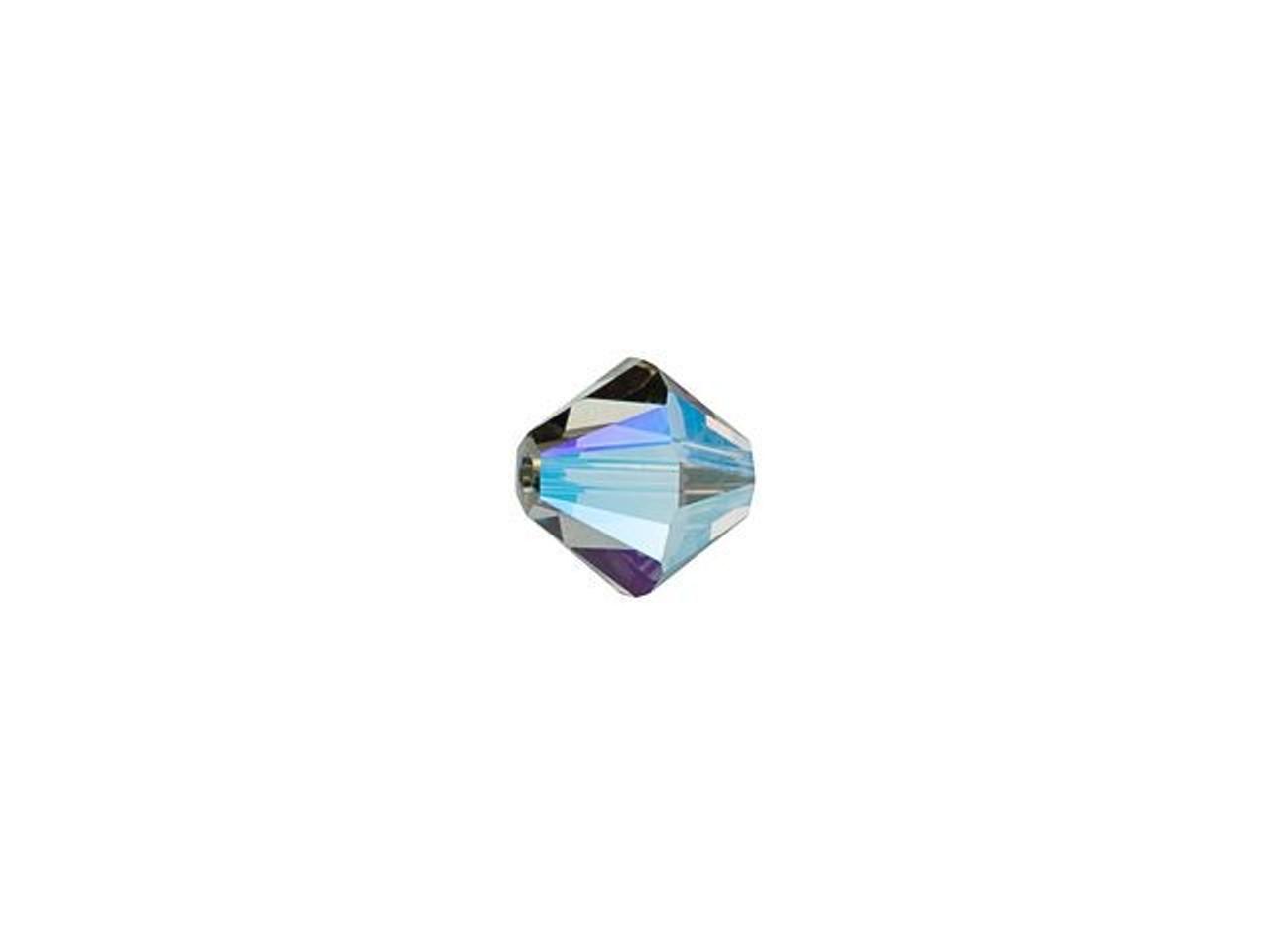 Crystal Bicones-Jet Black AB-Multi Size