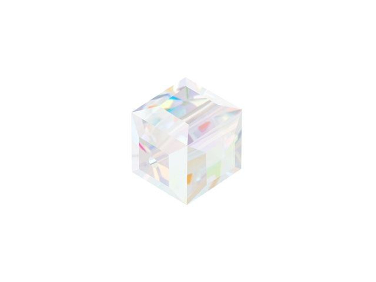 5601 5 Perles Cube Swarovski 6 mm Rose alabaster    ***
