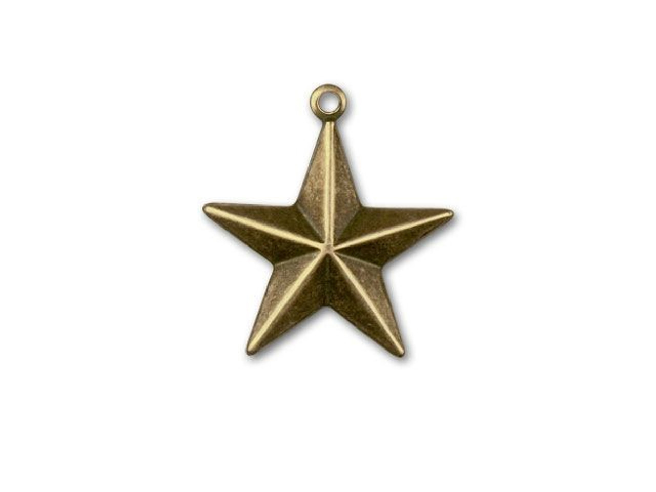 4 Large Star Charms Antiqued Bronze Star Pendants Filigree Celestial Charms