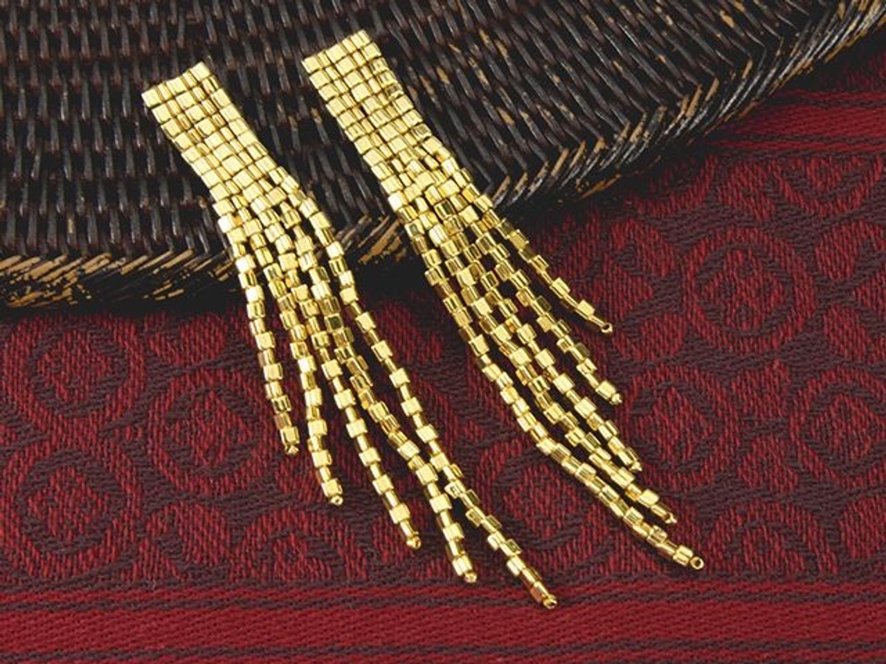2 STRAND SLIDE LOCK 8 EIGHT Beadsmith Gold-Plated Tube Clasps
