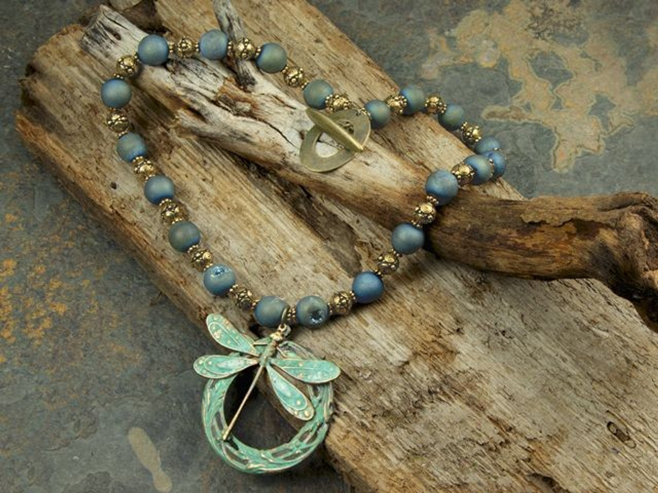 Brown Rope Turquoise Silver Accent Filigree Cross Design Tassel Pendant Necklace
