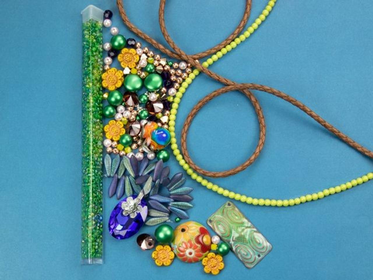 Yellow Cream Light Green  4mm Bugle Beads Sewing Craft Jewellery Embroidery