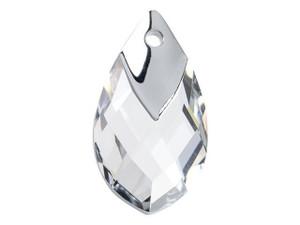 6565 Metallic Cap Pear-Shaped Pendants