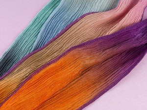 Hand-Dyed Silk Wraps