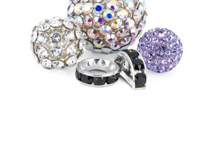 Pave Balls & Rhinestone Spacers