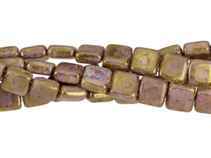 Peridot *Wholesale* CzechMates 50 Tile 2 holes 6 mm beads