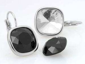 Sterling Silver caution pour collage 4470 carré fantaisie cristaux 10 mm 12 mm