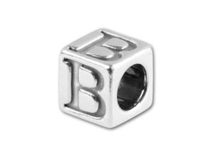 5.6mm Cube Letter Beads