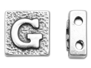 2-Hole Letter Beads