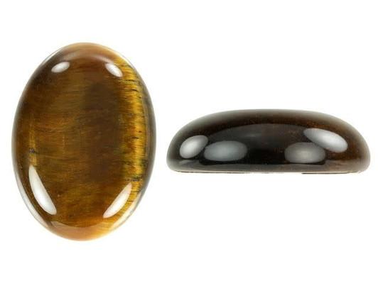 2 x Semi Precious Gemstone Tigers Tiger Eye Oval Cabochon 4-30mm