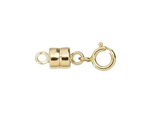 REVEW 20 Packs Round Brass Magnetic Jewelry Clasps for Bracelet Necklace Making Magnet Converter White K 6