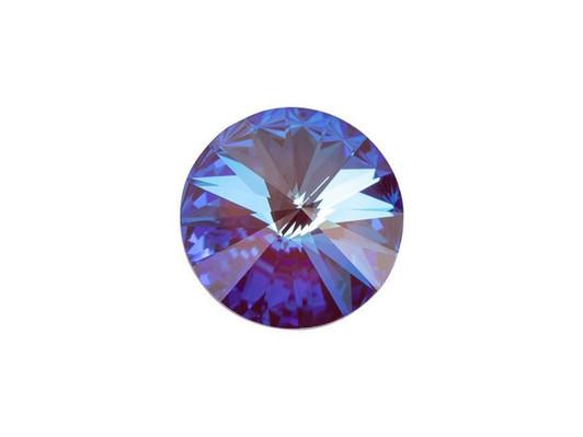 12 6mm Swarovski Margarita Spacer Beads 3700 AB Emerald Erinite Vitrail Med