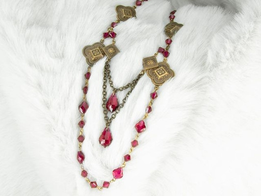 Snap Hook Bag Hanger Holder With Magenta Swarovski Rhinestone Crystals