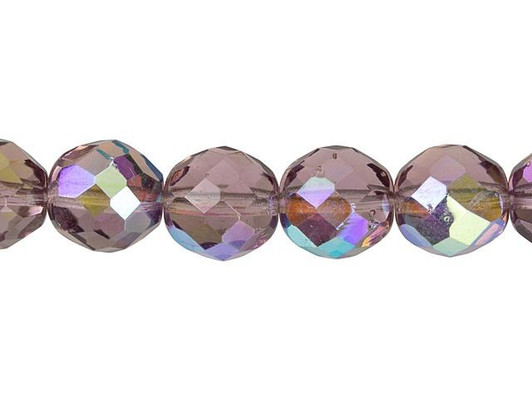 10 crystal Czech glass fire polished beads 12mm 0003
