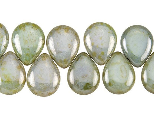 8 Peridot Cat/'s Eye Glass 16x12mm Drop Beads