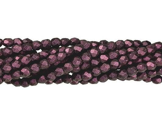 Capri Blue Vitral 50 6mm Round Faceted Czech Glass Fire Polish Beads