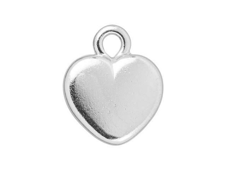 TierraCast Rhodium-Plated Pewter Heart Bezel Charm